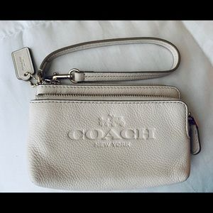 Authentic Coach Embossed Wristlet